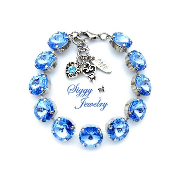 Jewelry - Swarovski Crystal Light Sapphire Bracelet, 12mm